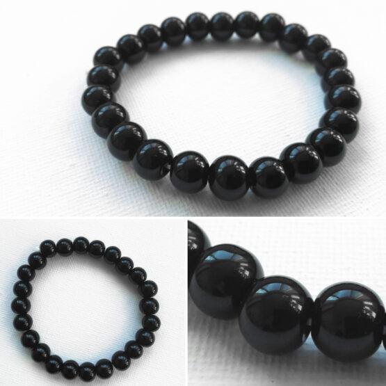 Mustast obsidiaanist käevõru